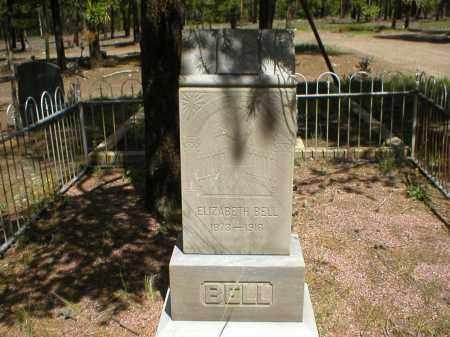 BELL, ELIZABETH - Lake County, Colorado | ELIZABETH BELL - Colorado Gravestone Photos