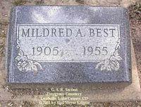 BEST, MILDRED A. - Lake County, Colorado   MILDRED A. BEST - Colorado Gravestone Photos