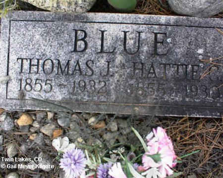 BLUE, THOMAS J. - Lake County, Colorado | THOMAS J. BLUE - Colorado Gravestone Photos