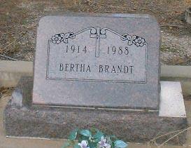 BRANDT, BERTHA - Lake County, Colorado | BERTHA BRANDT - Colorado Gravestone Photos