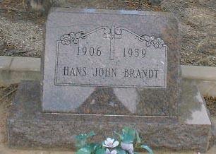 BRANDT, HANS JOHN - Lake County, Colorado | HANS JOHN BRANDT - Colorado Gravestone Photos