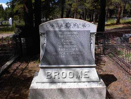 BROOME, FANNIE - Lake County, Colorado | FANNIE BROOME - Colorado Gravestone Photos