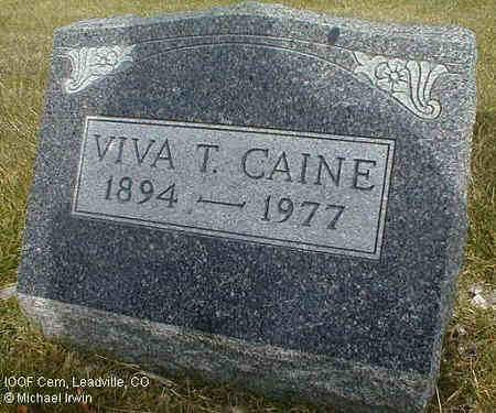 CAINE, VIVA T. - Lake County, Colorado | VIVA T. CAINE - Colorado Gravestone Photos