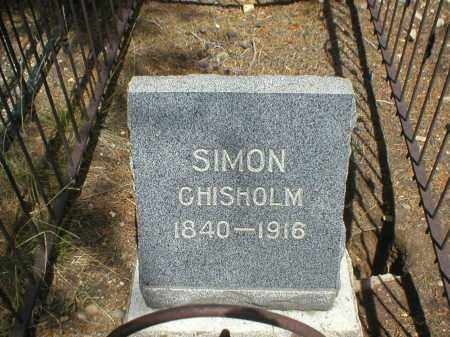 CHISHOLM, SIMON - Lake County, Colorado   SIMON CHISHOLM - Colorado Gravestone Photos