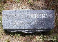 CHRISTMANN, BERTHA - Lake County, Colorado | BERTHA CHRISTMANN - Colorado Gravestone Photos