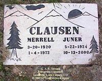 CLAUSEN, JUNER - Lake County, Colorado   JUNER CLAUSEN - Colorado Gravestone Photos