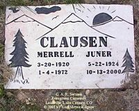 CLAUSEN, JUNER - Lake County, Colorado | JUNER CLAUSEN - Colorado Gravestone Photos