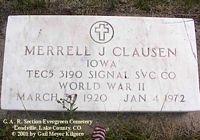 CLAUSEN, MERRELL J. - Lake County, Colorado | MERRELL J. CLAUSEN - Colorado Gravestone Photos