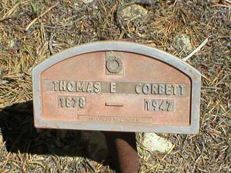 CORBETT, THOMAS E. - Lake County, Colorado | THOMAS E. CORBETT - Colorado Gravestone Photos
