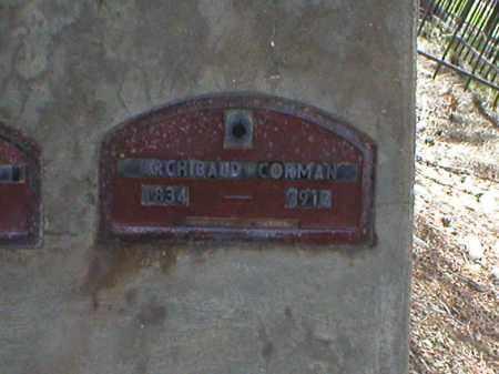 CORMAN, ARCHIBAUD - Lake County, Colorado   ARCHIBAUD CORMAN - Colorado Gravestone Photos