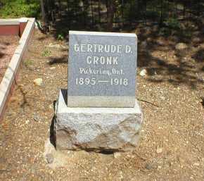 CRONK, GERTRUDE D. - Lake County, Colorado   GERTRUDE D. CRONK - Colorado Gravestone Photos