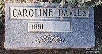 DAVIES, CAROLINE - Lake County, Colorado | CAROLINE DAVIES - Colorado Gravestone Photos