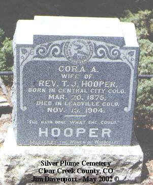 HOOVER, CORA A. - Lake County, Colorado | CORA A. HOOVER - Colorado Gravestone Photos