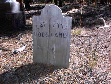 HOUGLAND, LAFFETTA - Lake County, Colorado | LAFFETTA HOUGLAND - Colorado Gravestone Photos