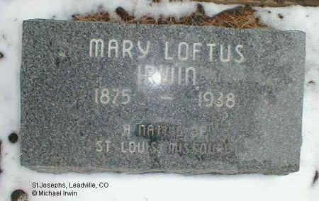 IRWIN, MARY FRANCES - Lake County, Colorado   MARY FRANCES IRWIN - Colorado Gravestone Photos
