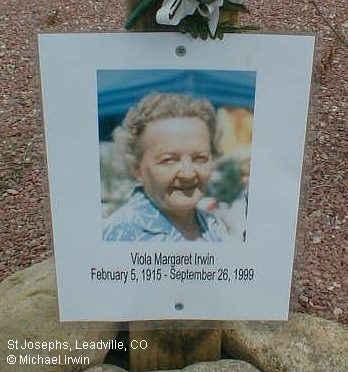 CAINE IRWIN, VIOLA MARGARET - Lake County, Colorado | VIOLA MARGARET CAINE IRWIN - Colorado Gravestone Photos