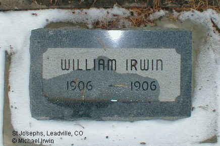 IRWIN, WILLIAM JOSEPH, JR. - Lake County, Colorado   WILLIAM JOSEPH, JR. IRWIN - Colorado Gravestone Photos