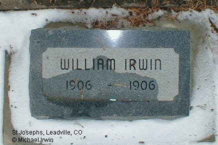 IRWIN, WILLIAM JOSEPH, JR. - Lake County, Colorado | WILLIAM JOSEPH, JR. IRWIN - Colorado Gravestone Photos