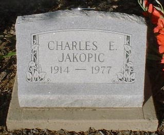 JAKOPIC, CHARLES E. - Lake County, Colorado | CHARLES E. JAKOPIC - Colorado Gravestone Photos