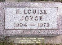 JOYCE, HELEN  LOUISE - Lake County, Colorado   HELEN  LOUISE JOYCE - Colorado Gravestone Photos
