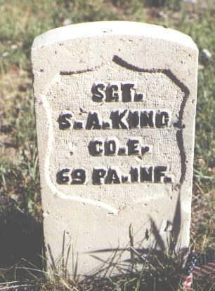 KING, S. A. - Lake County, Colorado | S. A. KING - Colorado Gravestone Photos