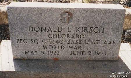 KIRSCH, DONALD L. - Lake County, Colorado   DONALD L. KIRSCH - Colorado Gravestone Photos