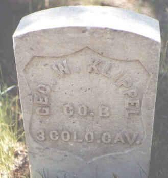 KLIPPEL, GEORGE W. - Lake County, Colorado | GEORGE W. KLIPPEL - Colorado Gravestone Photos
