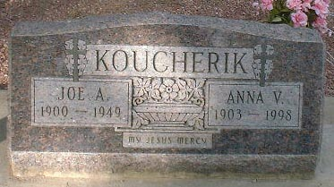 KOUCHERIK, JOE A. - Lake County, Colorado | JOE A. KOUCHERIK - Colorado Gravestone Photos