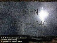 LAING, JOHN - Lake County, Colorado   JOHN LAING - Colorado Gravestone Photos