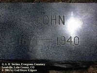 LAING, JOHN - Lake County, Colorado | JOHN LAING - Colorado Gravestone Photos