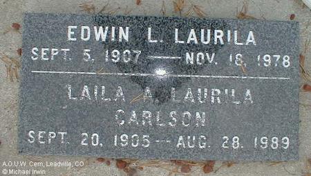 LAURILA, EDWIN L. - Lake County, Colorado | EDWIN L. LAURILA - Colorado Gravestone Photos