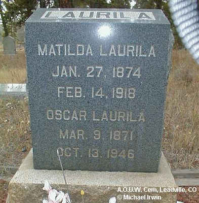 LAURILA, MATILDA - Lake County, Colorado | MATILDA LAURILA - Colorado Gravestone Photos