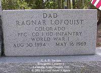 LOFGUIST, RAYNOR - Lake County, Colorado | RAYNOR LOFGUIST - Colorado Gravestone Photos