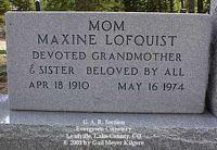 LOFQUIST, MAXINE - Lake County, Colorado | MAXINE LOFQUIST - Colorado Gravestone Photos