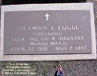 LOGUE, SHERMAN LESTER - Lake County, Colorado   SHERMAN LESTER LOGUE - Colorado Gravestone Photos