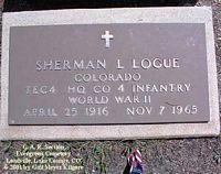 LOGUE, SHERMAN LESTER - Lake County, Colorado | SHERMAN LESTER LOGUE - Colorado Gravestone Photos