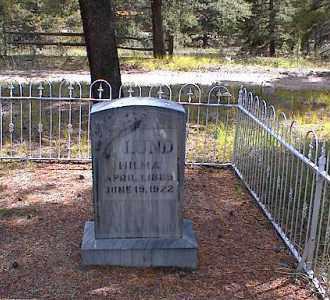 LUND, WILMA - Lake County, Colorado   WILMA LUND - Colorado Gravestone Photos