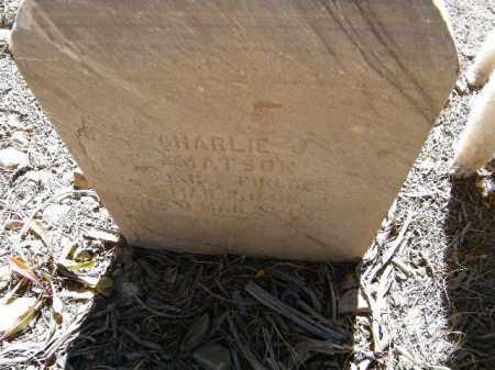 MATSON, CHARLES J. - Lake County, Colorado | CHARLES J. MATSON - Colorado Gravestone Photos