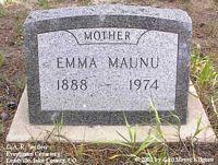 MAUNU, EMMA - Lake County, Colorado | EMMA MAUNU - Colorado Gravestone Photos
