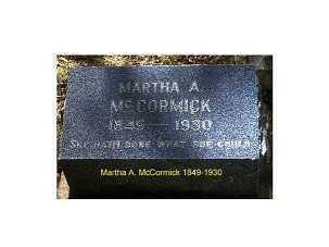 ORPHAN MCCORMICK, MARTHA A. - Lake County, Colorado | MARTHA A. ORPHAN MCCORMICK - Colorado Gravestone Photos