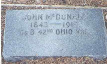 MCDONALD, JOHN - Lake County, Colorado   JOHN MCDONALD - Colorado Gravestone Photos