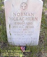 MCEACHERN, NORMAN - Lake County, Colorado | NORMAN MCEACHERN - Colorado Gravestone Photos