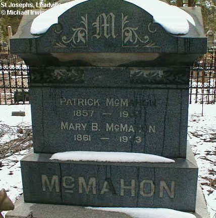 MCMAHON, PATRICK - Lake County, Colorado | PATRICK MCMAHON - Colorado Gravestone Photos