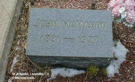 MCMAHON, JOHN - Lake County, Colorado | JOHN MCMAHON - Colorado Gravestone Photos