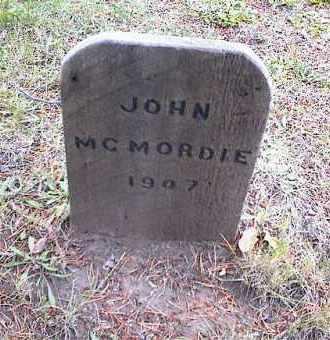 MCMORDIE, JOHN A. - Lake County, Colorado | JOHN A. MCMORDIE - Colorado Gravestone Photos