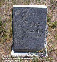 OBLASSER, JOHN - Lake County, Colorado | JOHN OBLASSER - Colorado Gravestone Photos