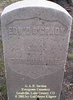 O'GRADY, EDW'D - Lake County, Colorado | EDW'D O'GRADY - Colorado Gravestone Photos