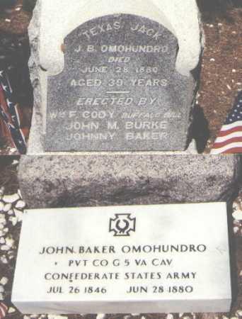 OMOHUNDRO, JOHN BAKER - Lake County, Colorado | JOHN BAKER OMOHUNDRO - Colorado Gravestone Photos
