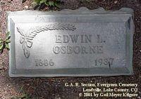 OSBORNE, EDWIN  L. - Lake County, Colorado   EDWIN  L. OSBORNE - Colorado Gravestone Photos