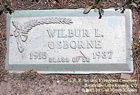 OSBORNE, WILBUR L. - Lake County, Colorado | WILBUR L. OSBORNE - Colorado Gravestone Photos